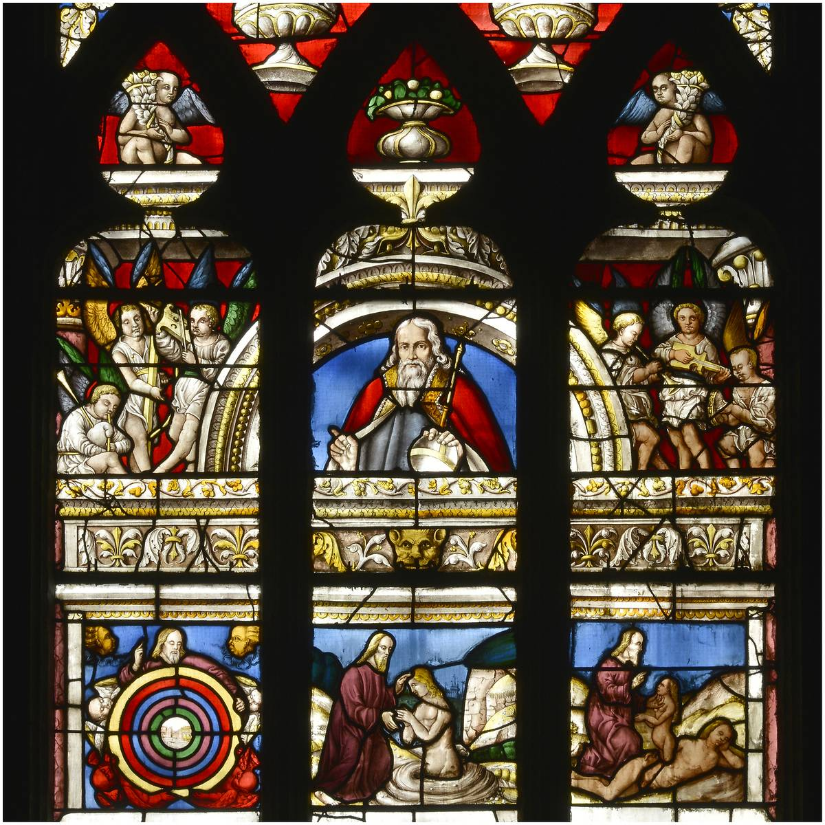 vitraux de la cathedrale sainte marie dauch