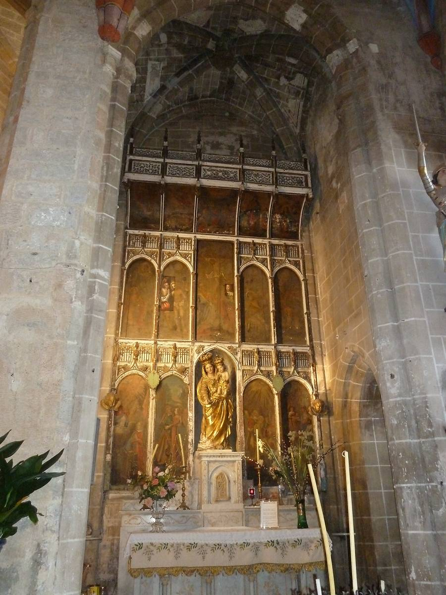 RETABLE ET CHAPELLE A CONQUES SUR ORBIEL