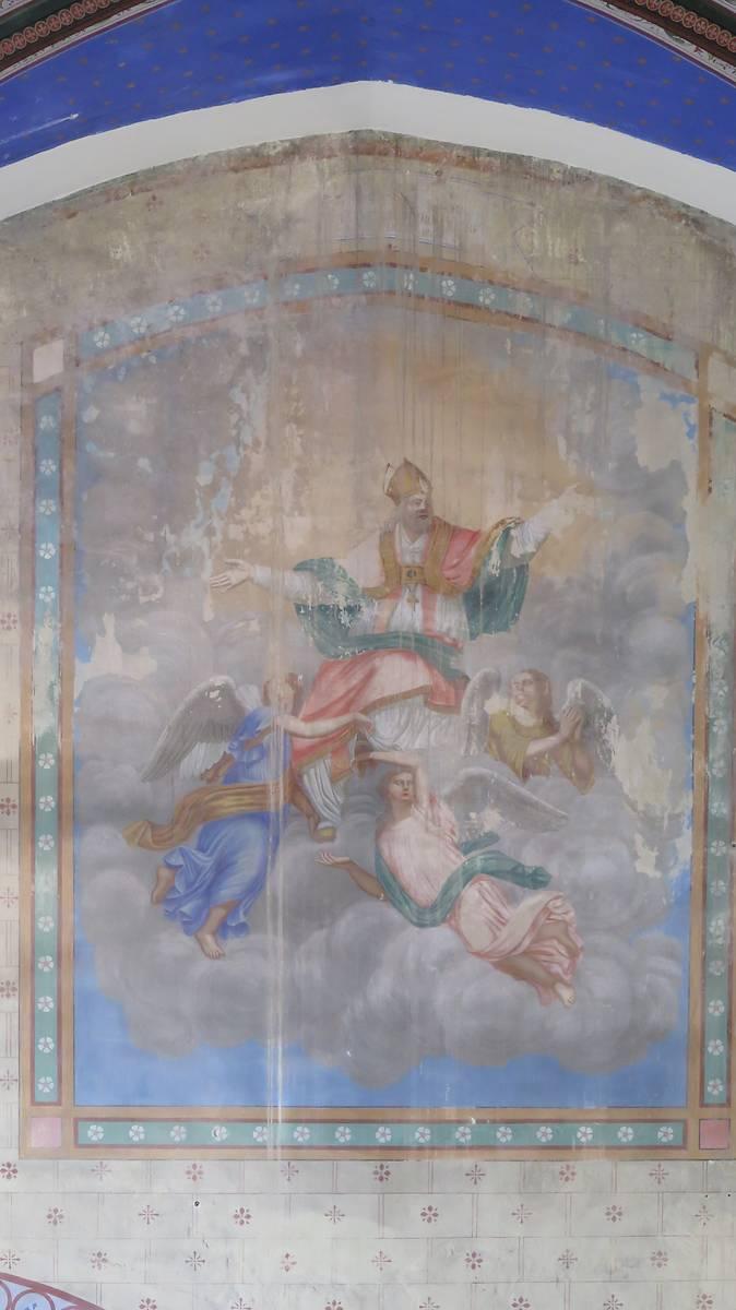 Fresque de l'église de Saint-Martin-Lalande