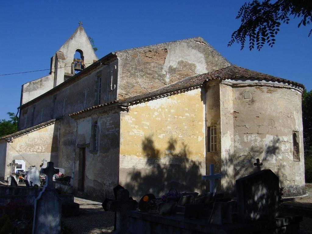 Eglise Saint-Aignan à Lagruère avant restauration