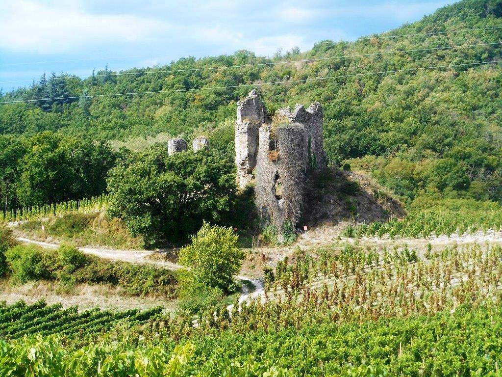 ruines du chateau de larnage