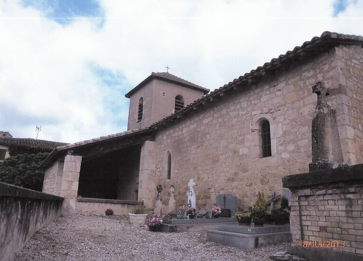 EGLISE SAINT JEAN-BAPTISTE DE GRANEJOULS A CAHUZAC SUR VERE