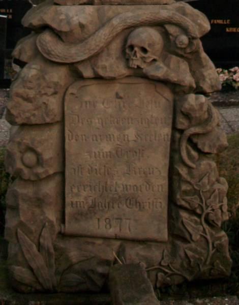 CROIX DE CIMETIERE DE WINTZENHEIM-KOCHERSBERG