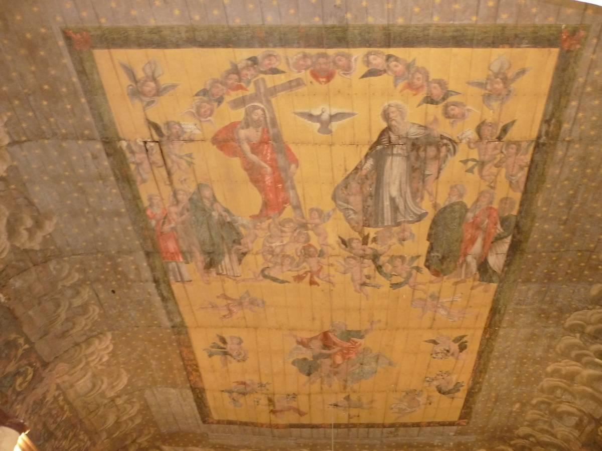 Plafond de l'église de Saint-Paul-Lizonne