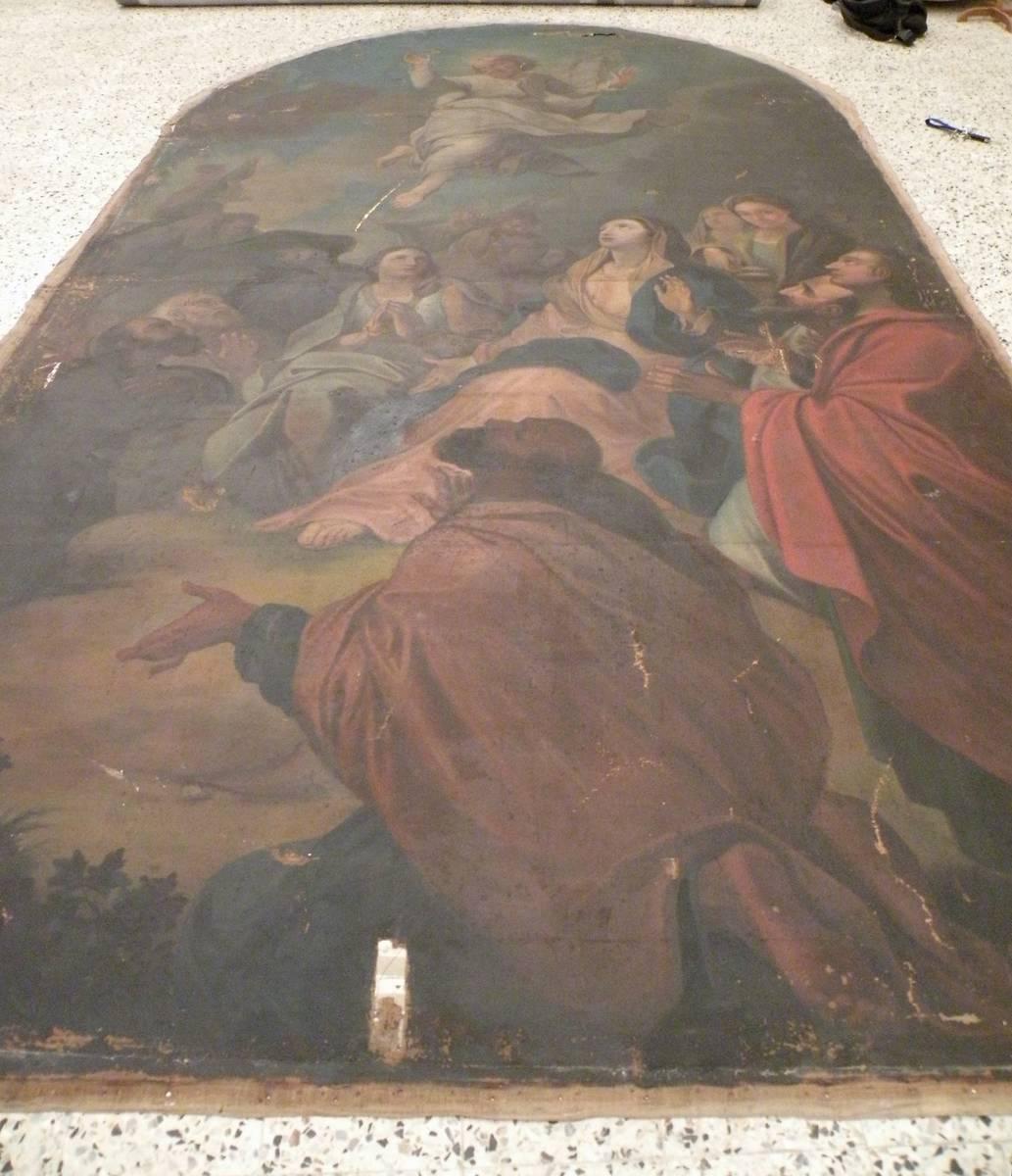 deux tableaux religieux a sainte cecile les vignes