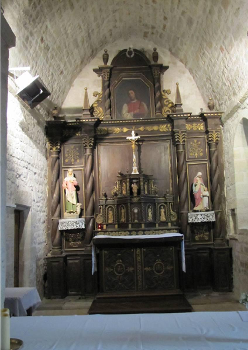 retable de lglise saint laurent de bersac au lardin saint lazare