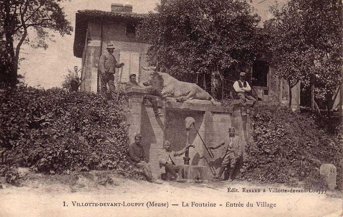 VACHE FONTAINE DE VILLOTTE-DEVANT-LOUPPY