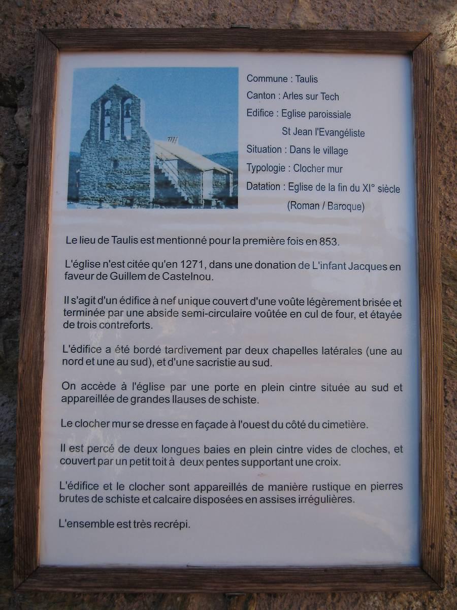 EGLISE SAINT JEAN L'EVANGELISTE DE TAULIS