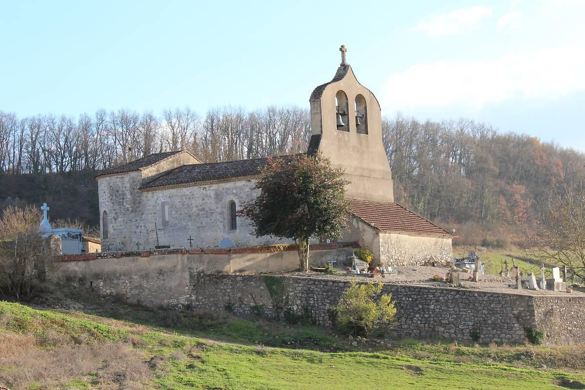 Eglise de Cailladelles à Castelnaud-de-Gratecambe