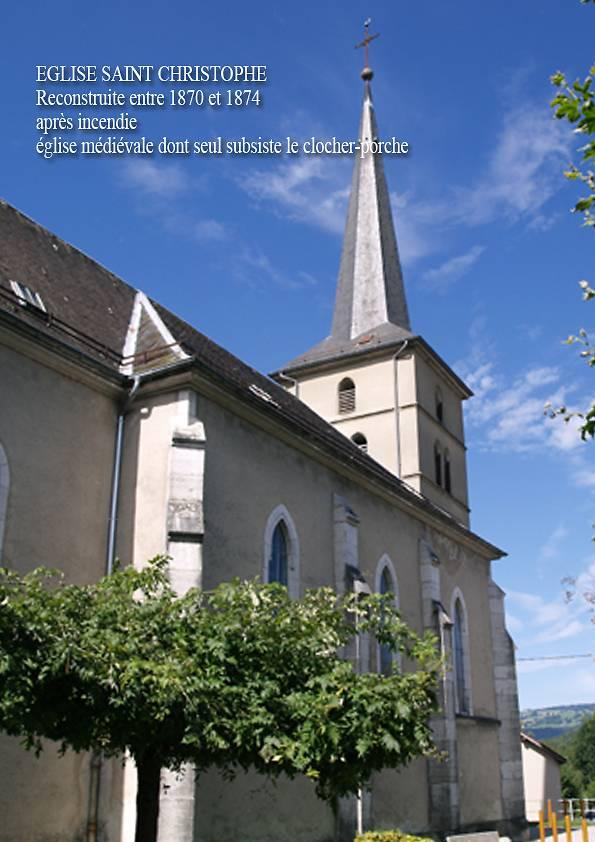 ÉGLISE DE SAINT CHRISTOPHE SUR GUIERS - VITRAUX D'ARCABAS