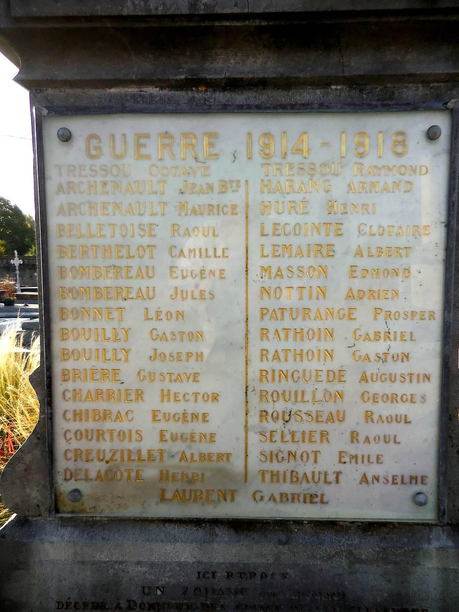MONUMENT AUX MORTS DE DONNERY