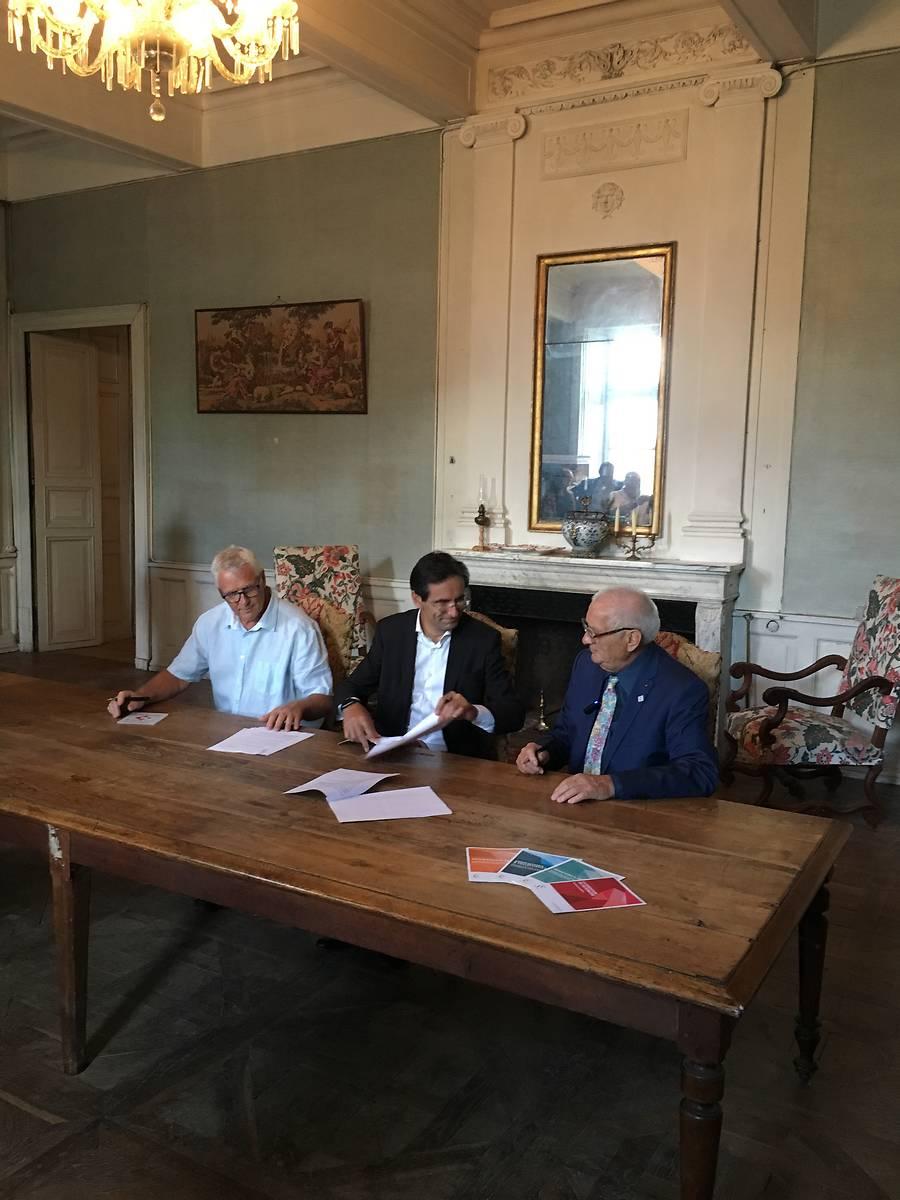 Signature de la convention de souscription en faveur de la restauration du Modèle hydraulique du château de Bonrepos-Riquet (31)