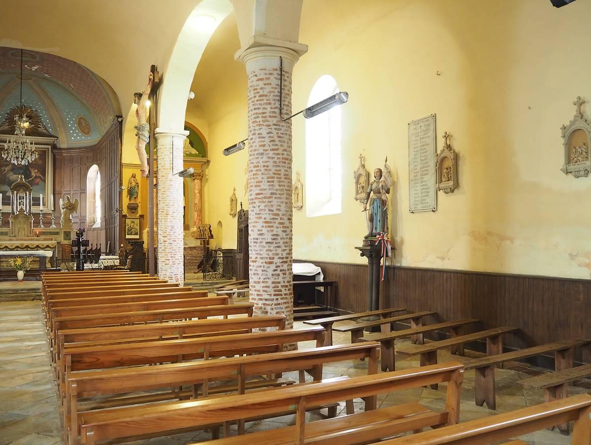 Eglise Saint Loup ou Leu à Duhort Bachen avant restauration