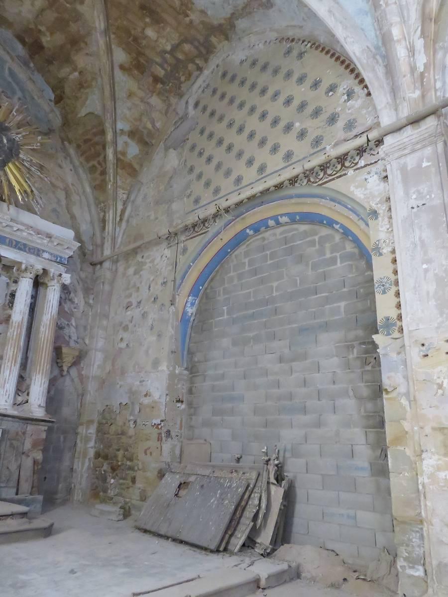 Élévation est -Ancienne entrée de la chapelle Sainte-Anne