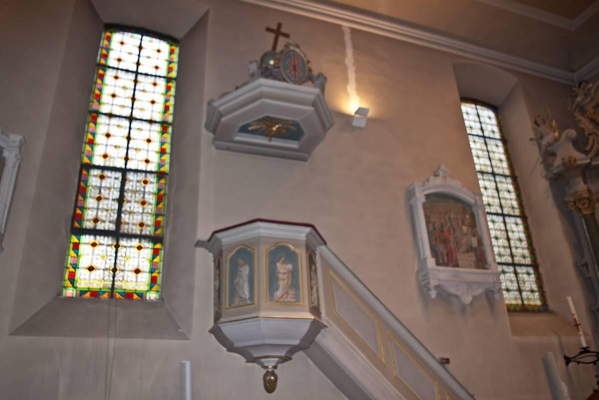Chaire à prêcher église Saint-Nicolas d'Ergersheim