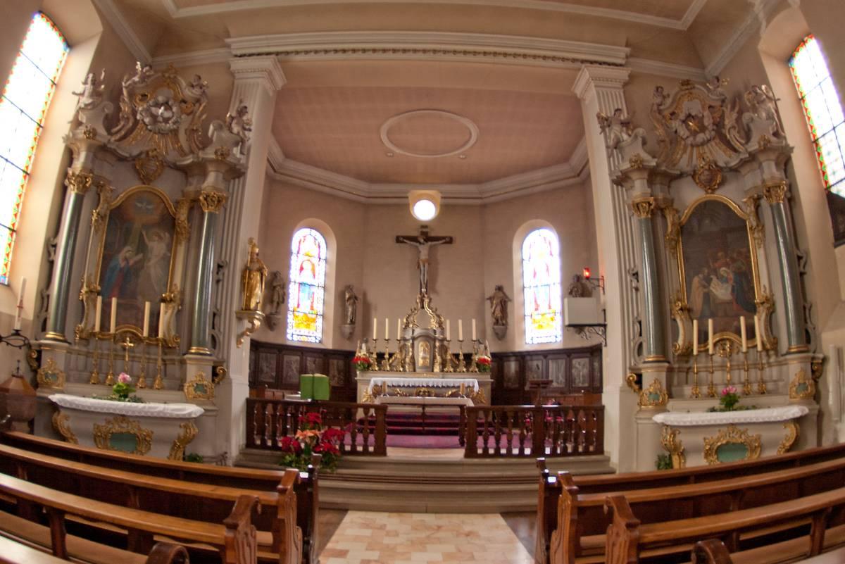 Autels latéraux église Saint-Nicolas d'Ergersheim