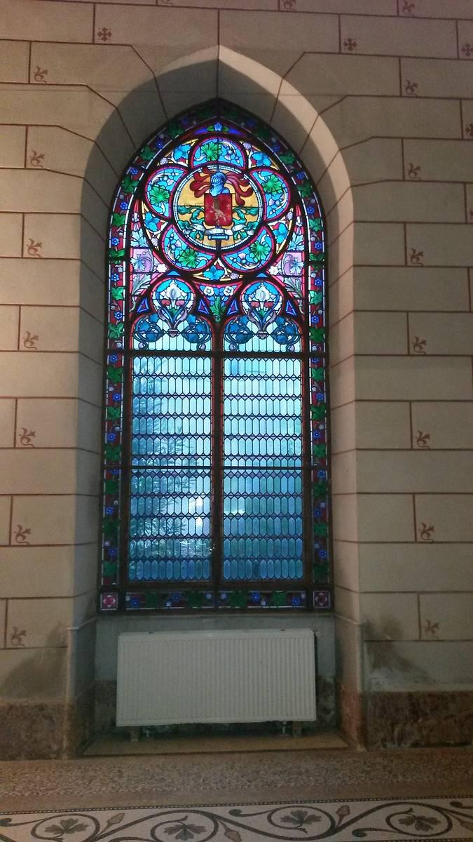 Abbaye de Valmagne vitrail réfectoire