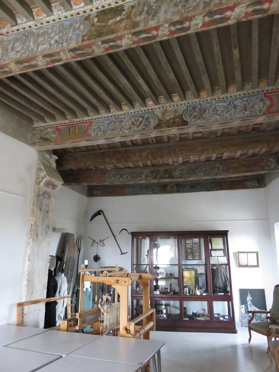 Plafond peint et musée
