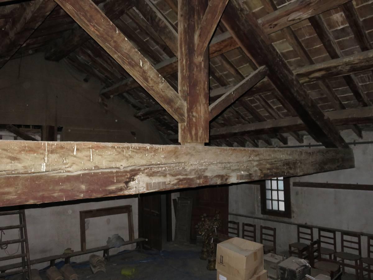 Charpente de la partie est du toit