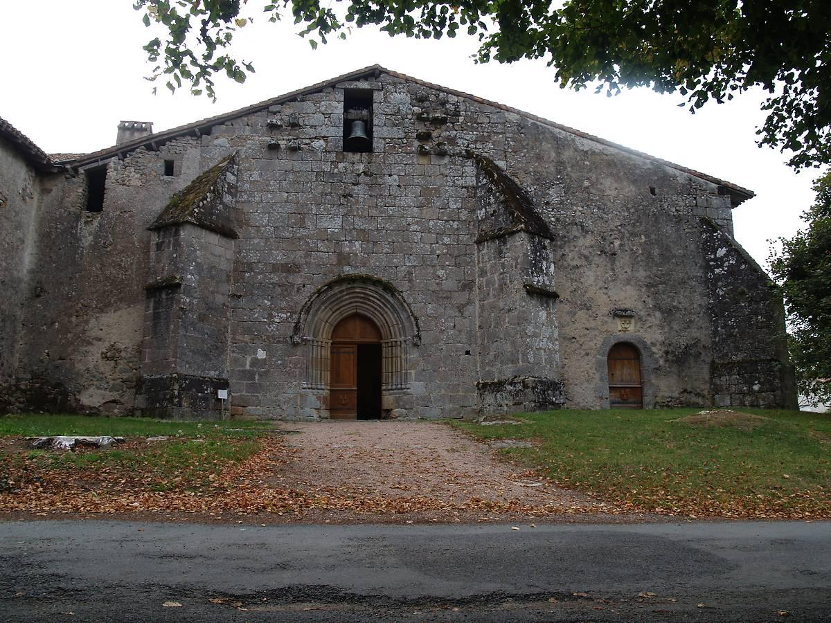 Eglise du Bourdeix, extérieur, Dordogne