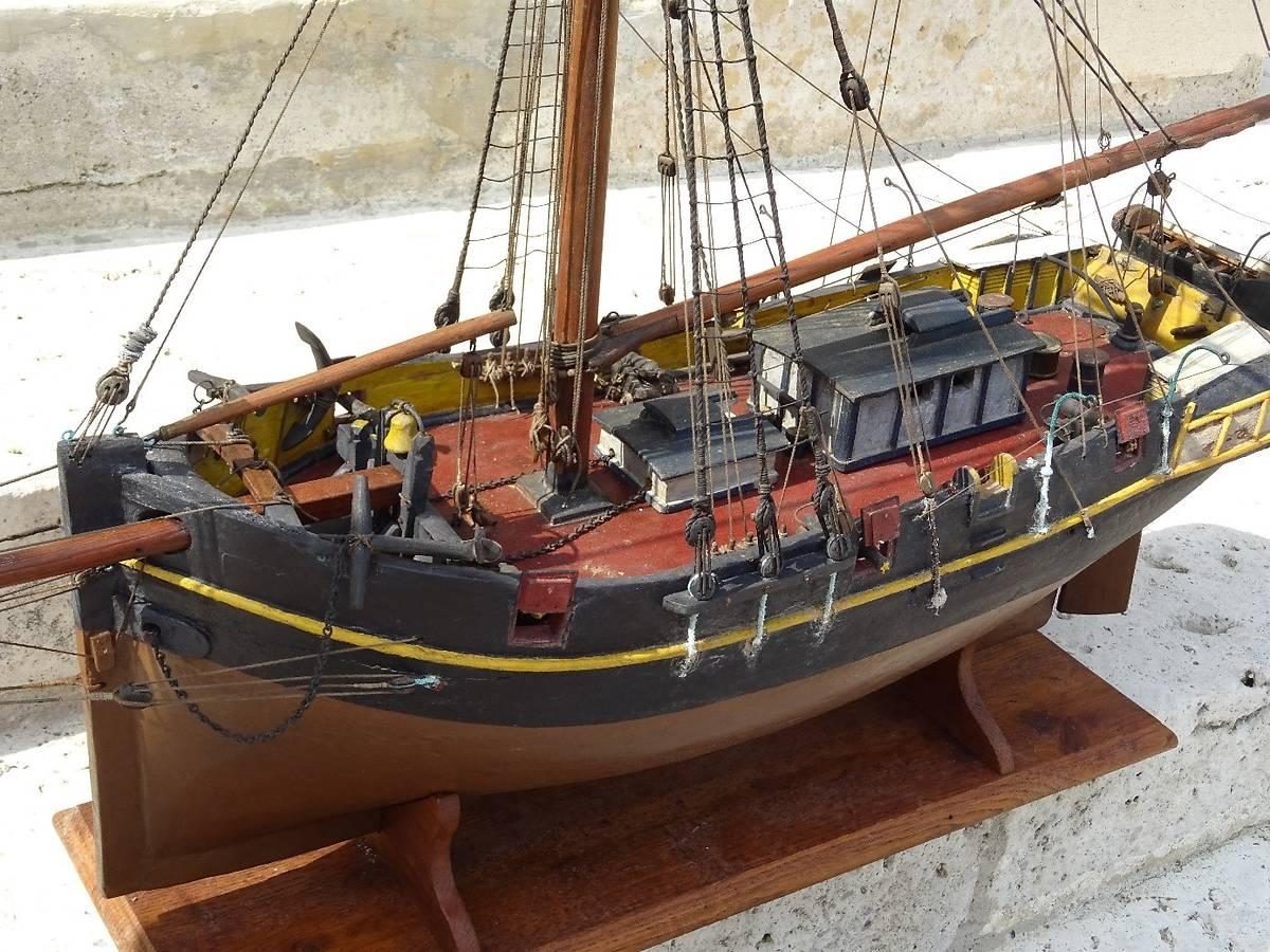"""Maquette de bateau """"La Bonne Aimée"""" à Saint-Sixte"""