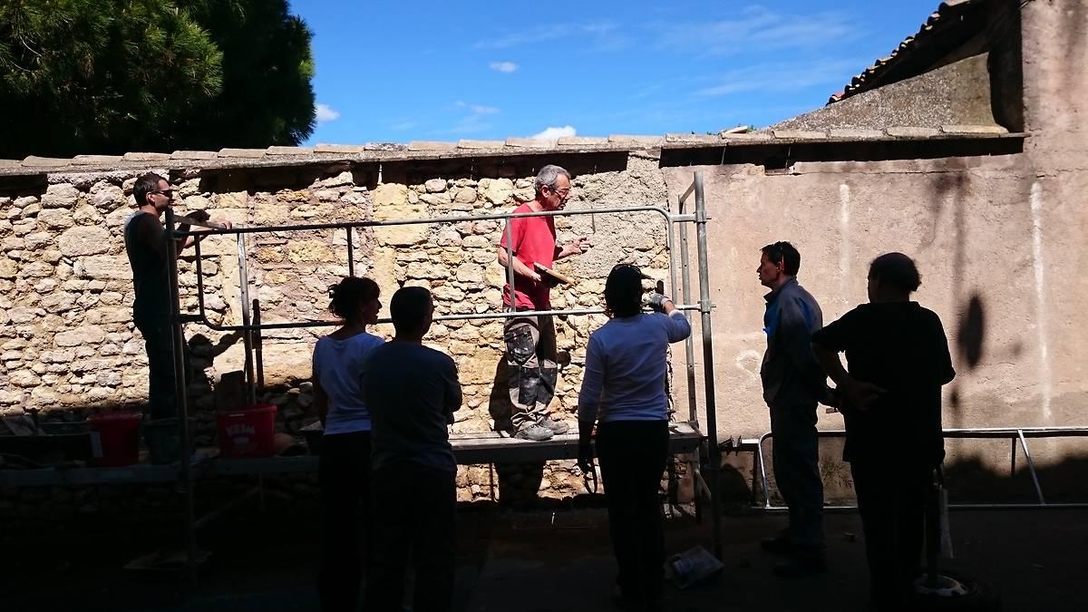 Stage sur les enduits à la chaux appliqué au bâti ancien, animé par Philippe Golcberg
