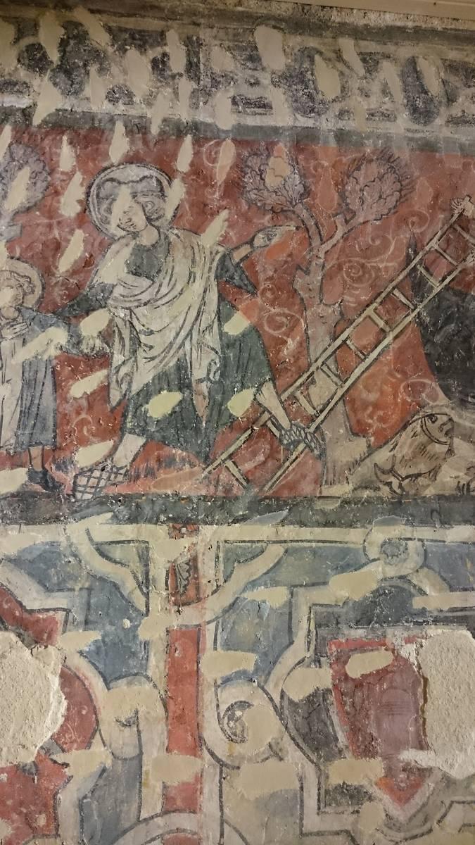 Extrait de la frise sur la vie de saint Eustache.