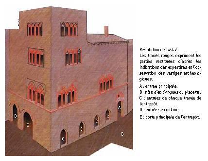 Restitution de l'ostal de Carcassonne.