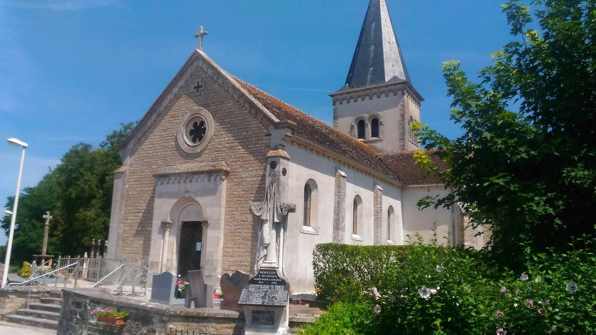 L'église de Montcoy en Saône-et-Loire