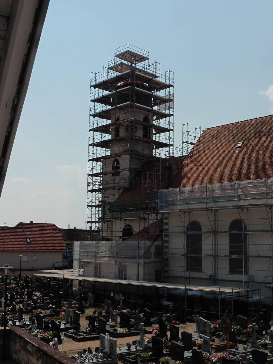 Eglise de Mothern durant travaux