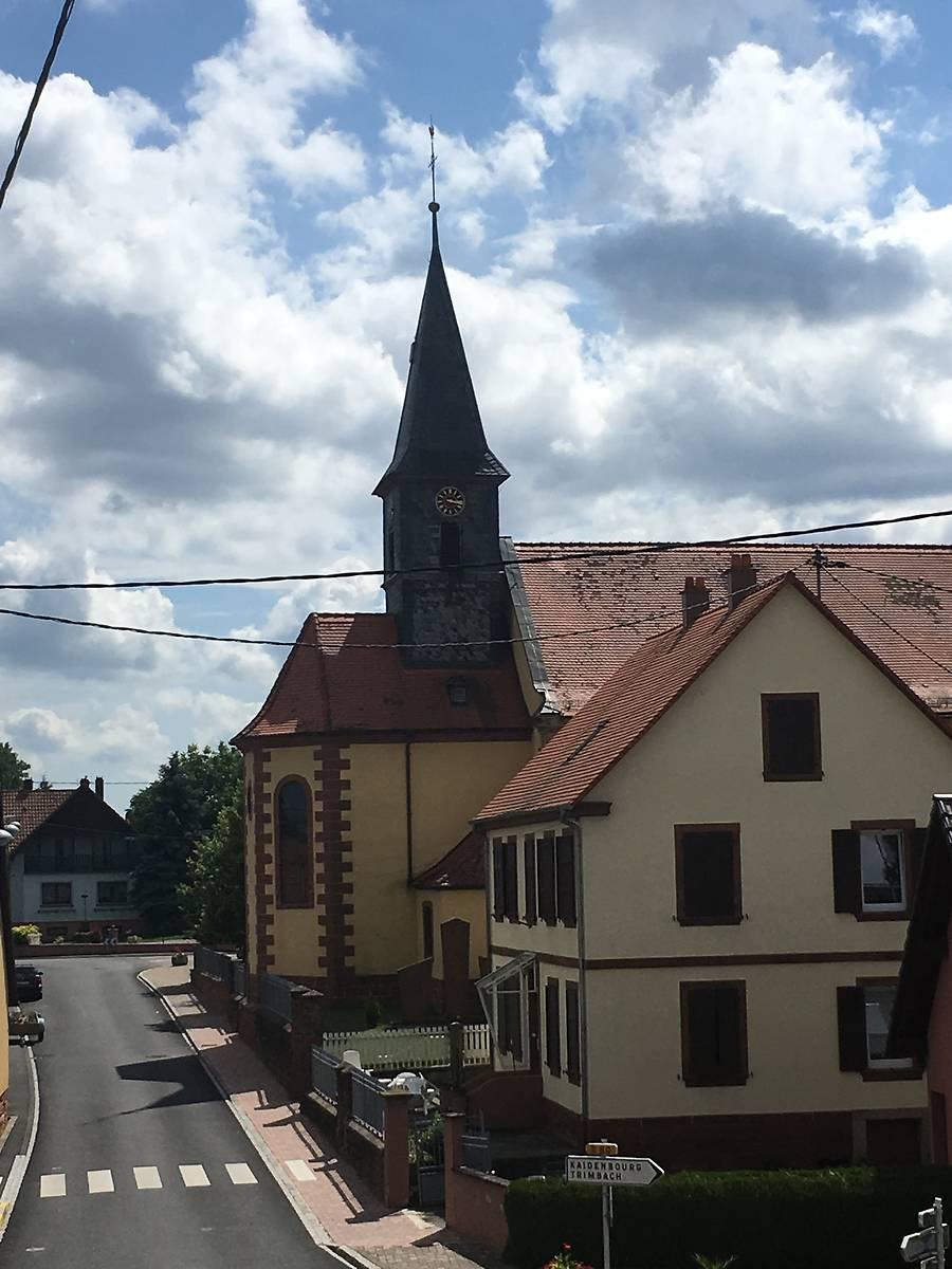 CLOCHER DE L'ÉGLISE SAINT-SIXTE D'OBERLAUTERBACH