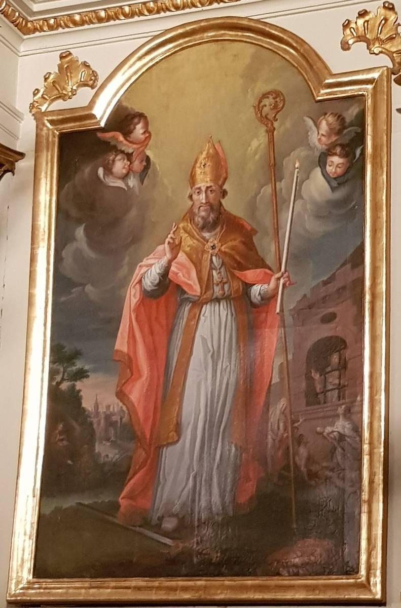 Tableaux de l'église St-Léger de Koestlach : Saint-Blaise, après restauration