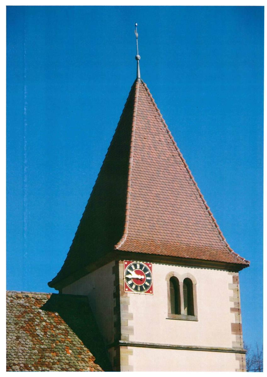 CLOCHER DE L'ÉGLISE SAINTS-PIERRE-ET-PAUL D'OLWISHEIM