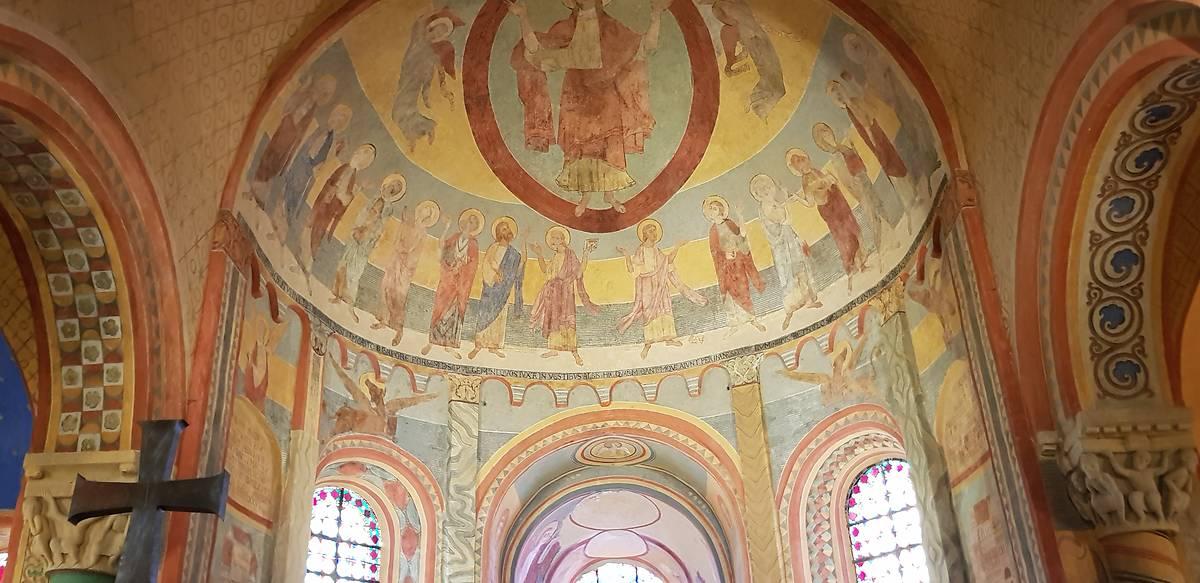 Peintures murales de l'église d'Anzy le Duc
