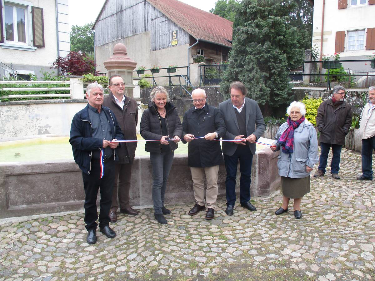 Inauguration en présence des élus locaux et de la Fondation du Patrimoine