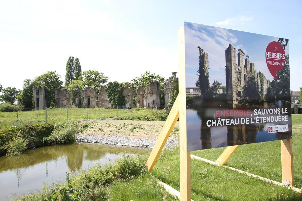 RUINES DU CHATEAU DE L'ETENDUERE AUX HERBIERS