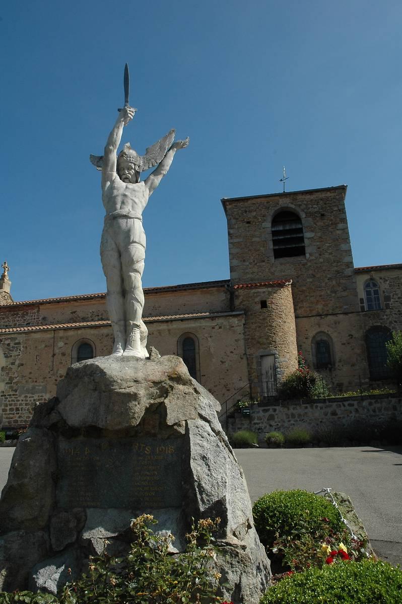 MONUMENT AUX MORTS, CROIX, ÉGLISE DE SAINT JULIEN D'ODDES