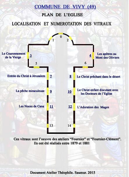 VITRAUX DE L'EGLISE SAINT PAUL DE VIVY