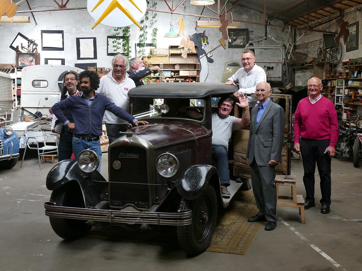 Le Club de mécènes Gironde fête la restauration de la Motobloc !
