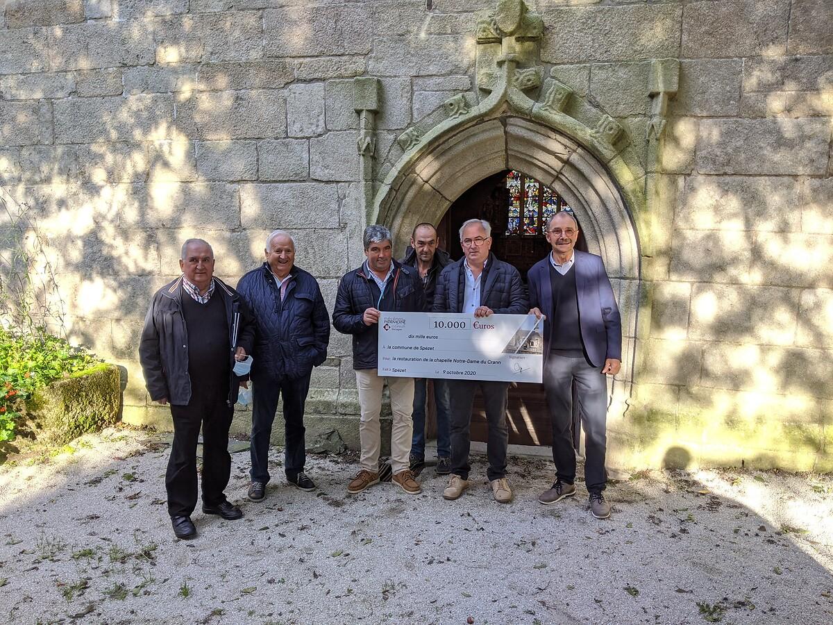 Remise de subvention à la chapelle du Crann à Spézet - octobre 2020
