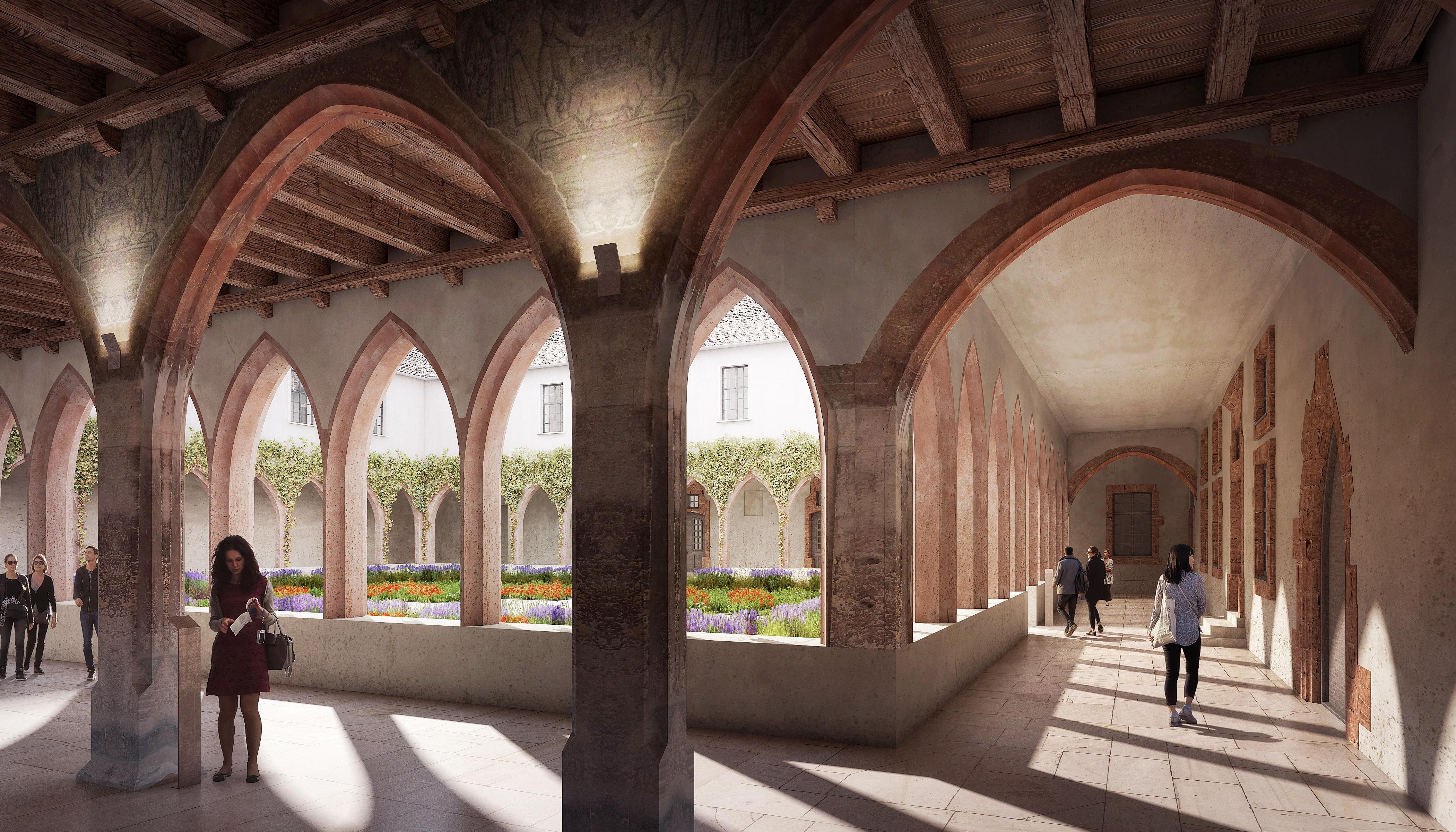 Bibliothèque des Dominicains à Colmar - perspective d'architecte