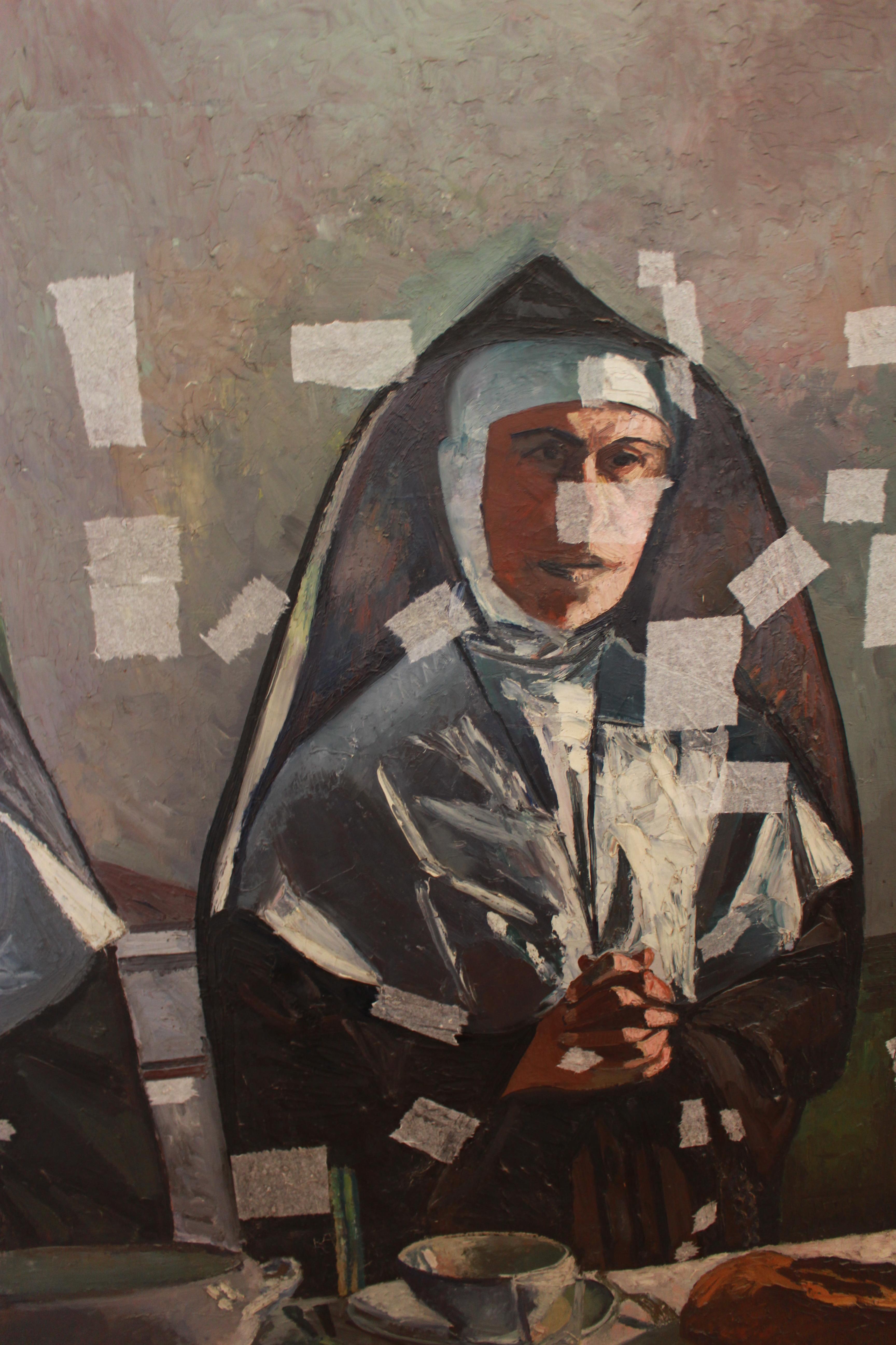 LE BÉNÉDICITÉ (PEINTURE DE JEAN COUTY, 1941)