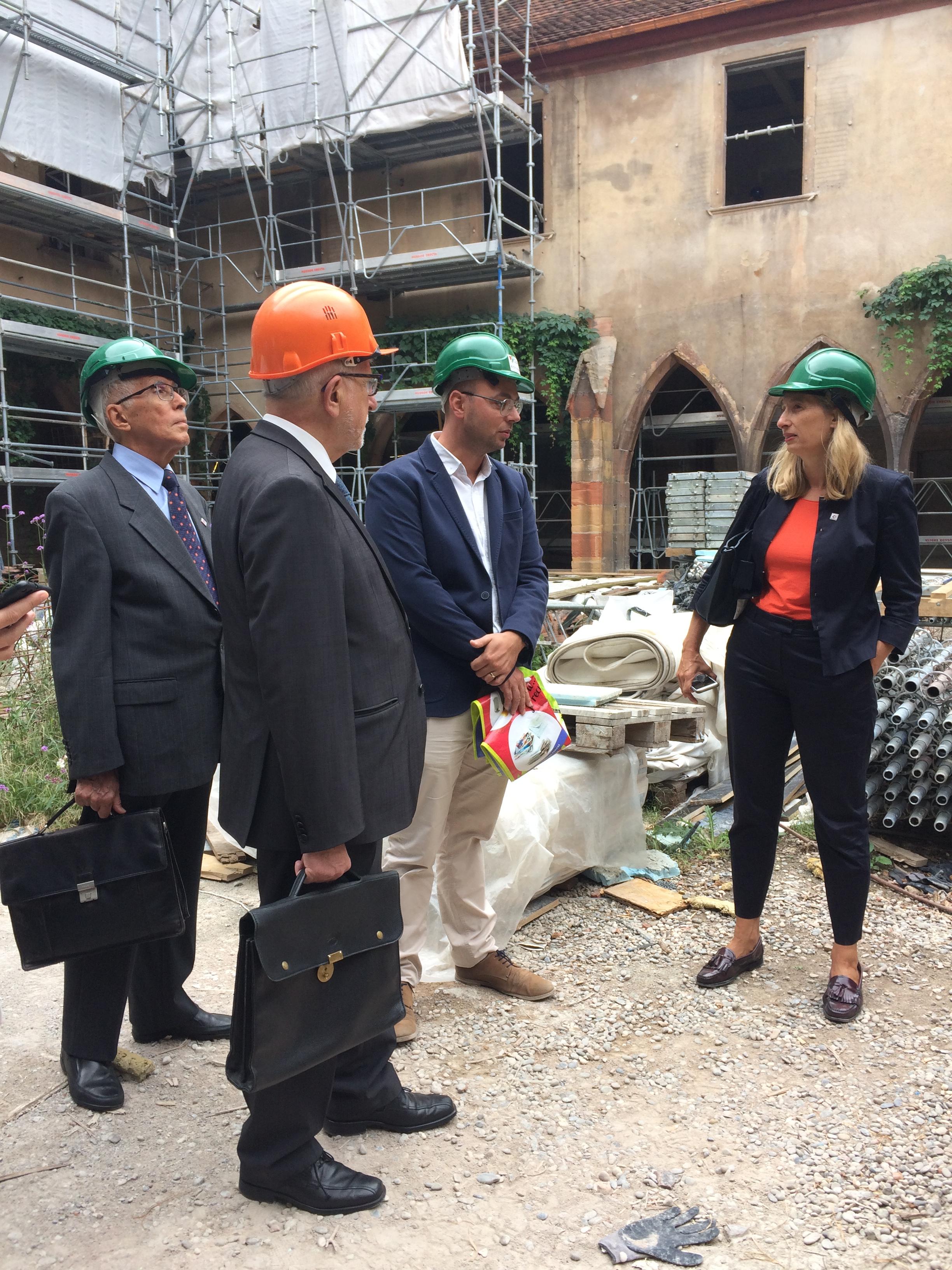 Bibliothèque des Dominicains à Colmar - Visite du chantier