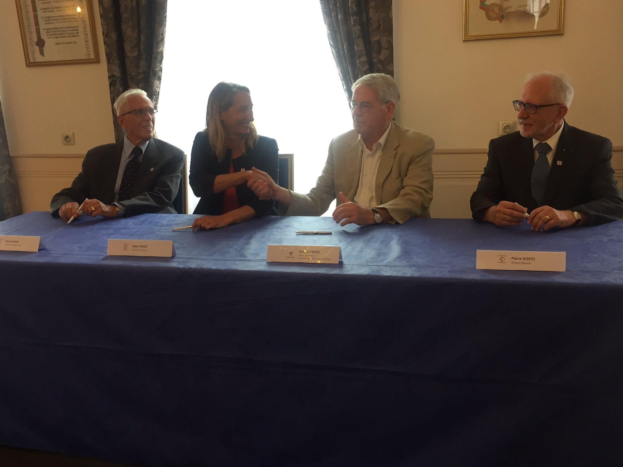 Bibliothèque des Dominicains à Colmar -  signature du partenariat