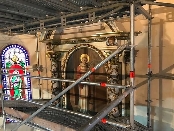 Restauration de l'église romane Saint-Laurent de Gougenheim