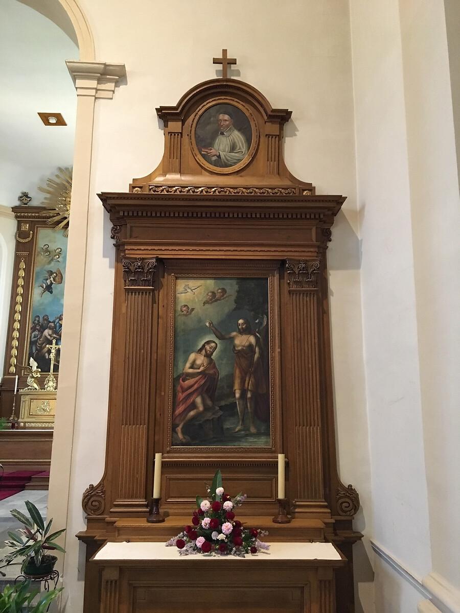 Le Christ baptisé dans la Jourdain