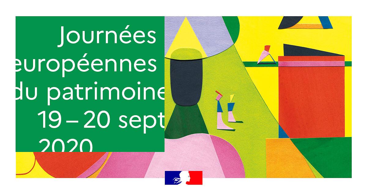 Journées européennes du patrimoine 2020 : 19 et 20 septembre