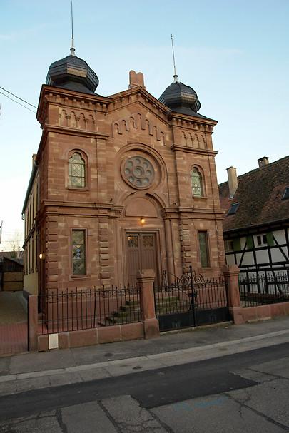 Vitrail de la Synagogue de Wolfisheim